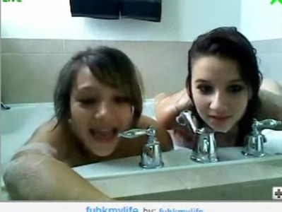 two amateur girls shower